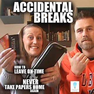 "Today, we're back with our series ""How to Leave on Time and NEVER Take Papers Home Again."" And we want to raise awareness to those times we take accidental breaks and realize we just spent a lot of time on something other than work."