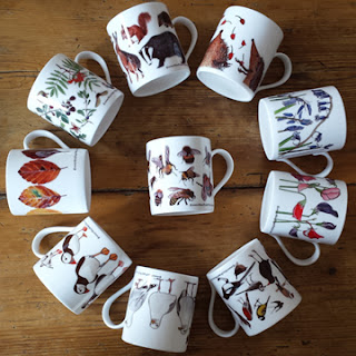 China Mugs by Alice Draws The Line