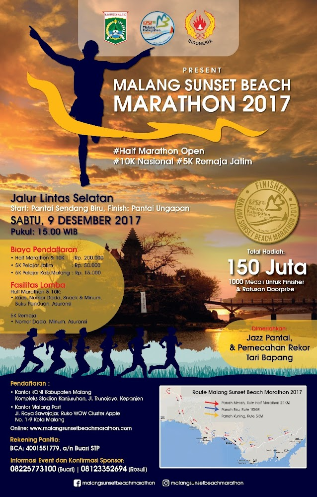 Malang Sunset Beach Marathon • 2017