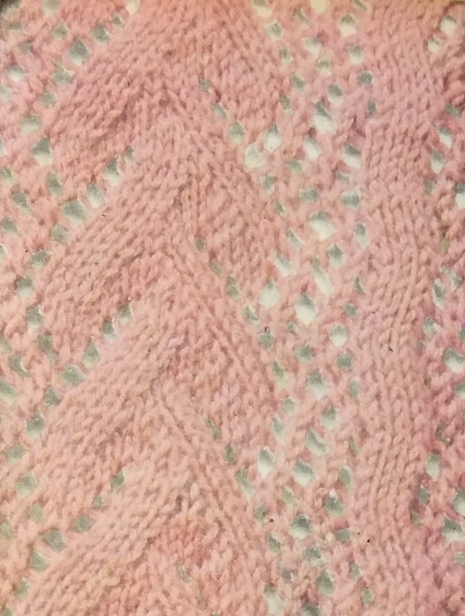 Knitting Now and Then: Print o\' the Wave, But Not Quite