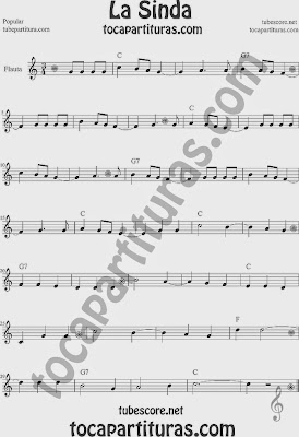 La Sinda Partitura de Flauta Travesera, flauta dulce y flauta de pico Sheet Music for Flute and Recorder Music Scores
