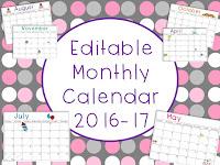 https://www.teacherspayteachers.com/Product/Editable-Monthly-Calendar-2016-17-1998156