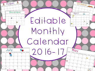 https://www.teacherspayteachers.com/Product/Editable-Monthly-Calendar-2016-17-1998156