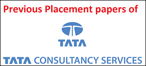 TCS previous placement papers with solution