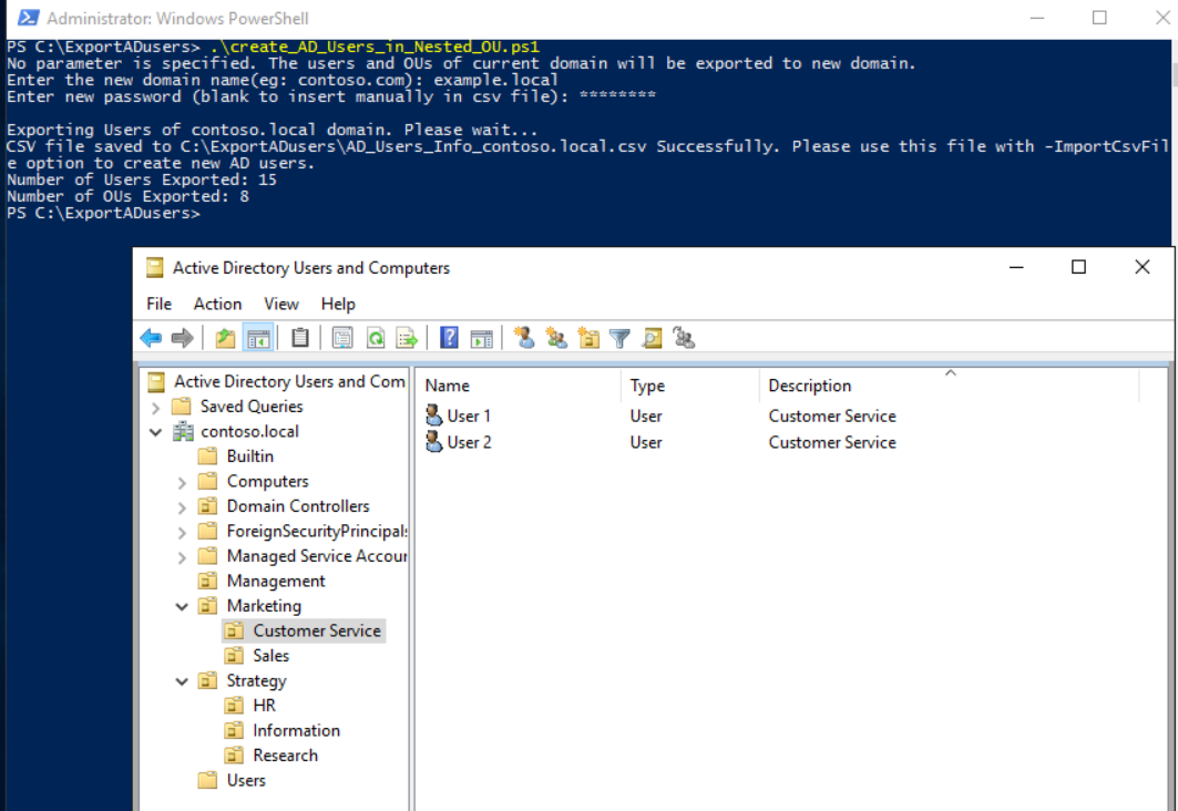 A Blog to a System Admin's Passion: Powershell: Create New Users/OUs