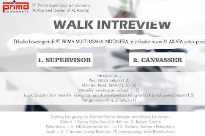 Lowongan Kerja di PT Prima Multi Usaha Indonesia (XL Axiata)