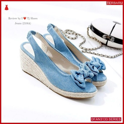 DFAN3133S177 Sepatu Ss31 Wedges 7cm Wanita Sol Tidak BMGShop