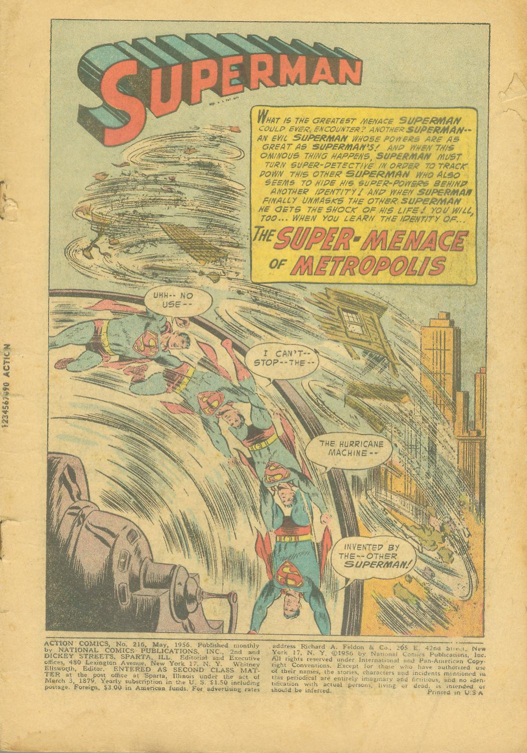 Read online Action Comics (1938) comic -  Issue #216 - 4
