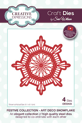 Festive Collection Art Deco Snowflake Dies - CED3124