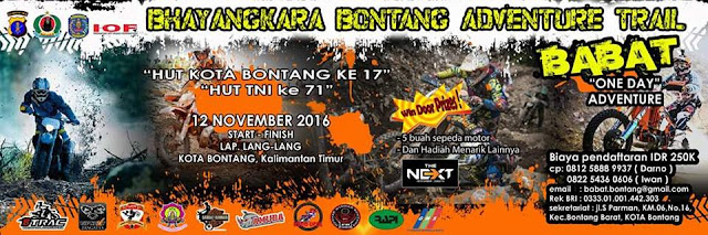 Bhayangkara Adventure Trail Bontang , 12 November 2016