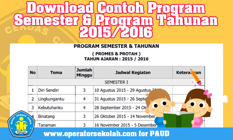 Download Contoh Program Semester & Program Tahunan 2015/2016