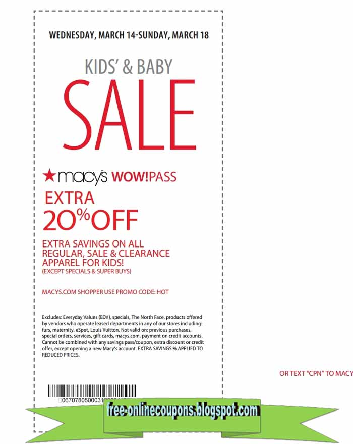 20% Off + Free Shipping: Presidents' Day Sale | Macy's Promo Code