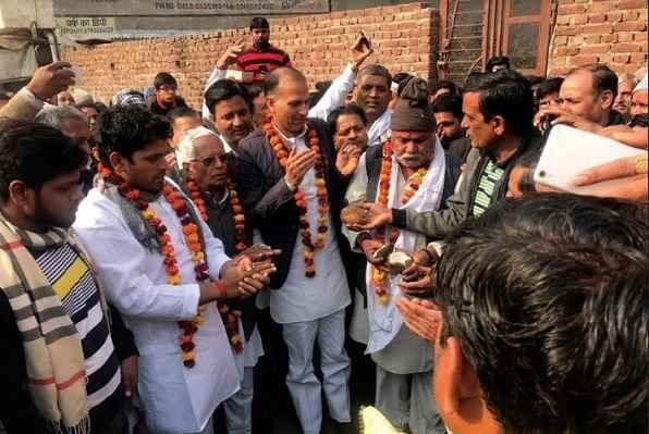 mla-nagender-bhadana-started-road-1-crore-74-lakh-ward-3-nit-faridabad