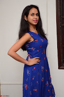 Pallavi Dora Actress in Sleeveless Blue Short dress at Prema Entha Madhuram Priyuraalu Antha Katinam teaser launch 051.jpg