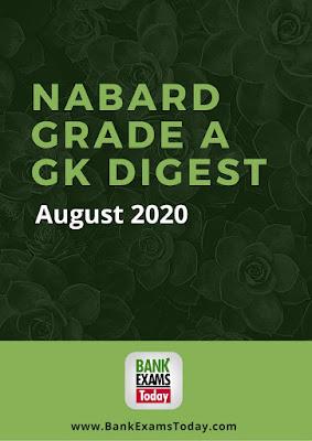 NABARD Grade A GK Digest: August 2020