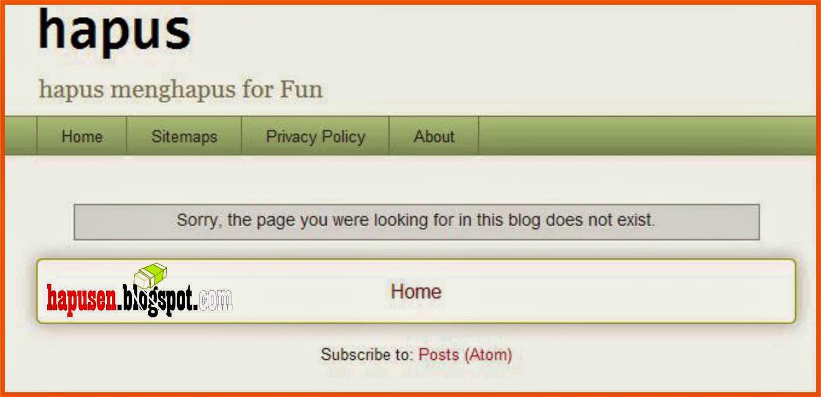 Cara Menghapus Artikel Blog