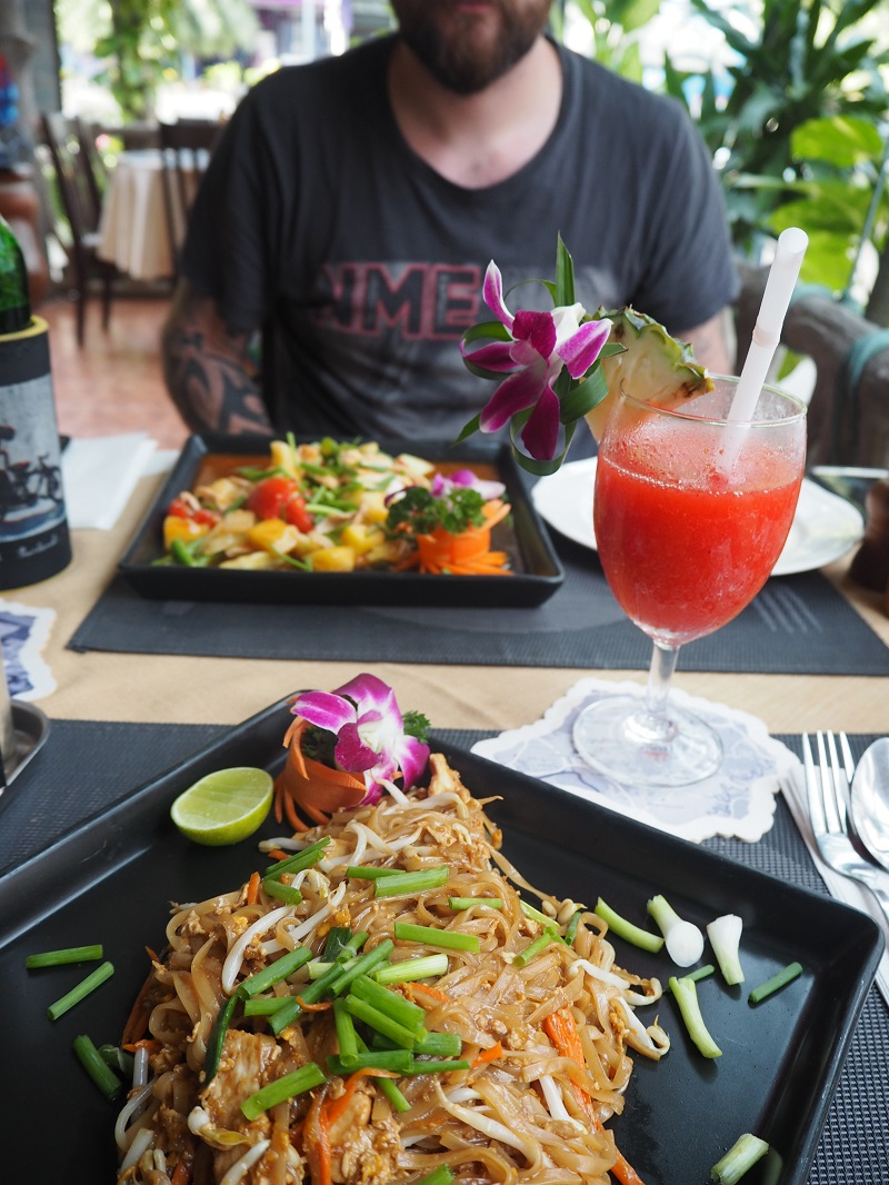 Pad Thai at Divers Inn Ao Nang Krabi