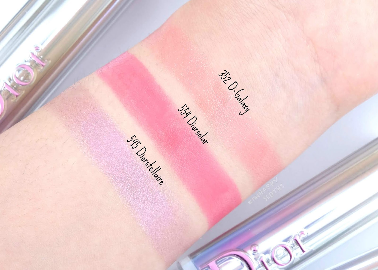 "Dior | Dior Addict Stellar Shine in ""352 D-Galaxy"", ""554 Diorsolar"" & ""595 Diorstellaire"": Review and Swatches"