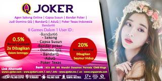 Bonus Cashback Agen Bandar66 Online Terpercaya QJoker - www.Sakong2018.com
