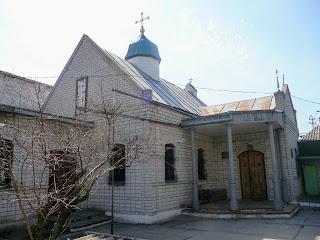 Новомосковск. Церковь Рождества Христова. 1999 г. на территории Свято-Троицкого собора