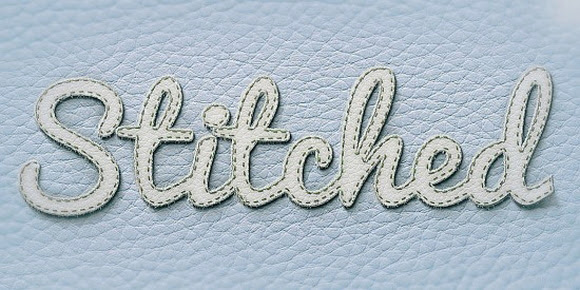 Realistic Stitched Text Effect