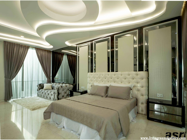 Half False Ceiling Designs For Bedroom  With LED lighting