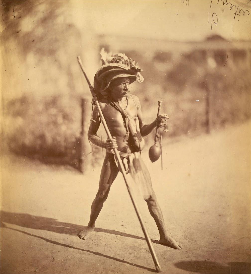Tribal Man from Eastern Bengal, India- 1860's