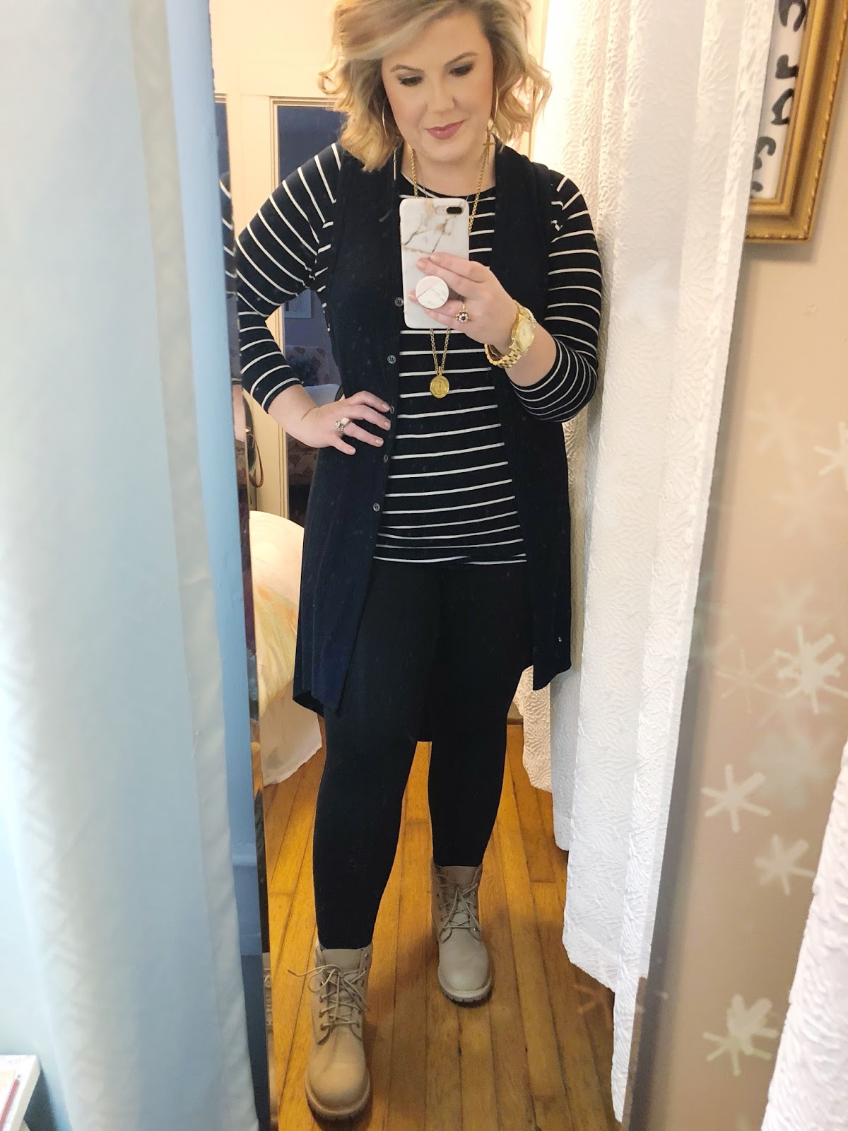Easy outfits for work all black outfit Timberland boots