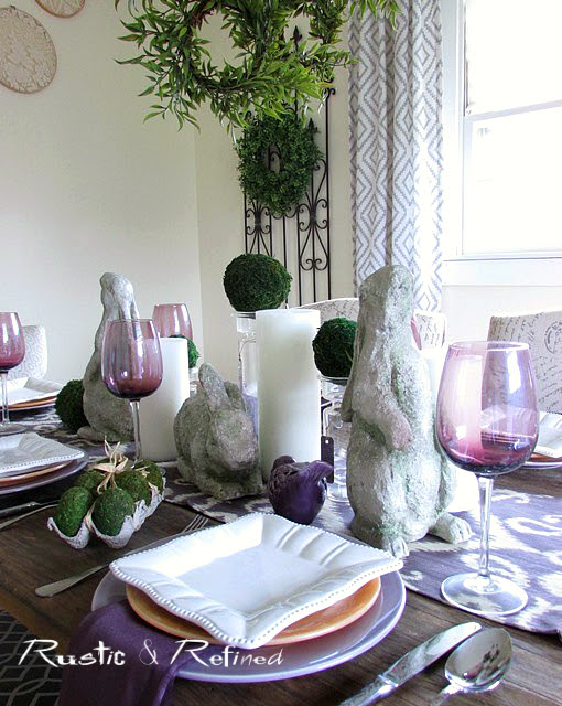 Tablescape ideas using color