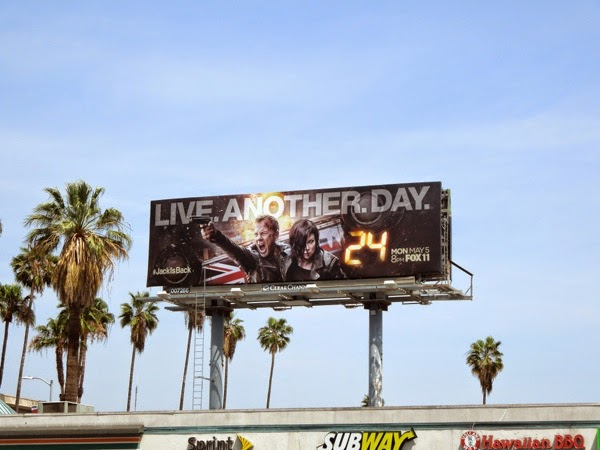 24 Live Another Day billboard