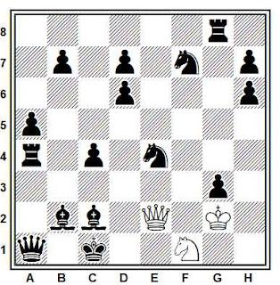 Estudio artístico de ajedrez compuesto por Paul Heuäcker (Deutsche Schachzeitung 1954)