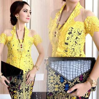 Baju Kebaya Sederhana Kuning