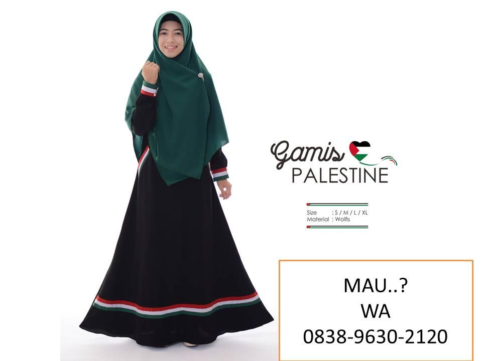 Gamis Motif Palestina Syar I Model Baju Gamis Syar I Terbaru 2019