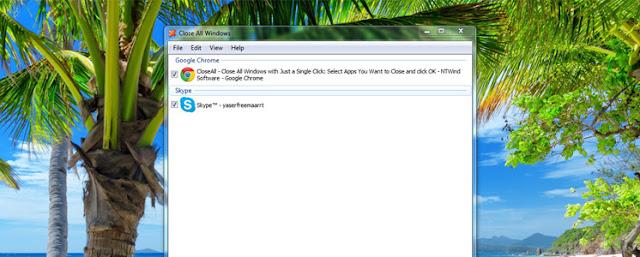برنامج CloseAll ، تحميل برنامج CloseAll ، إغلاق كافة النوافذ والبرامج بنقرة زر ، إغلاق كل البرامج ، برامج ويندوز ، إغلاق كل النوافذ ، CloseAll ، Close All