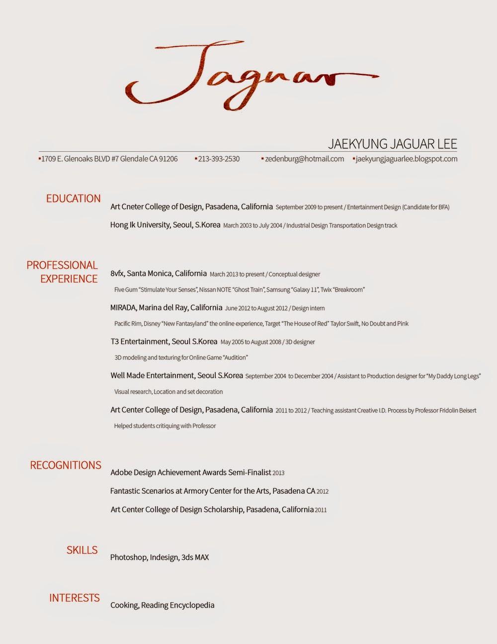 Creative Resume Template 81 Free Samples Examples Jaekyung Jaguar Lee Resume