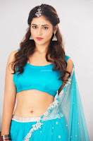 Marathi Actress Priyanka Jawalkar Sizzles In stunning Blue Half Saree ~ Exclusive 004.jpg