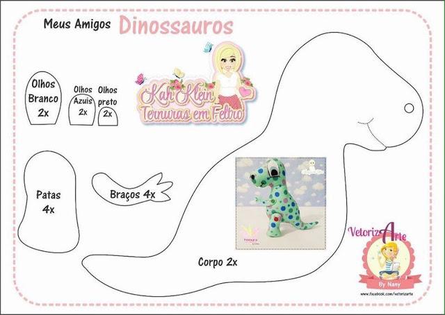 Fabuloso Recinto do Artesanato : Moldes: Dinossauros OY47