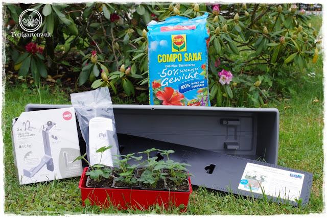 Food- und Gartenblog Topfgartenwelt Produkttest EMSA My City Garden mit Aqua Comfort-System - Test eines Balkonkastens mit Bewässerungssytem - Testbericht