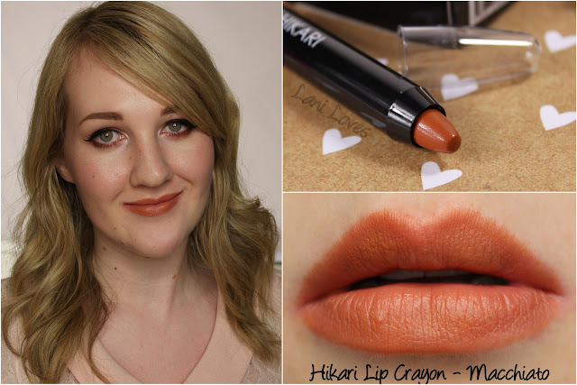 Hikari Lip Crayon - Machiatto Swatches & Review