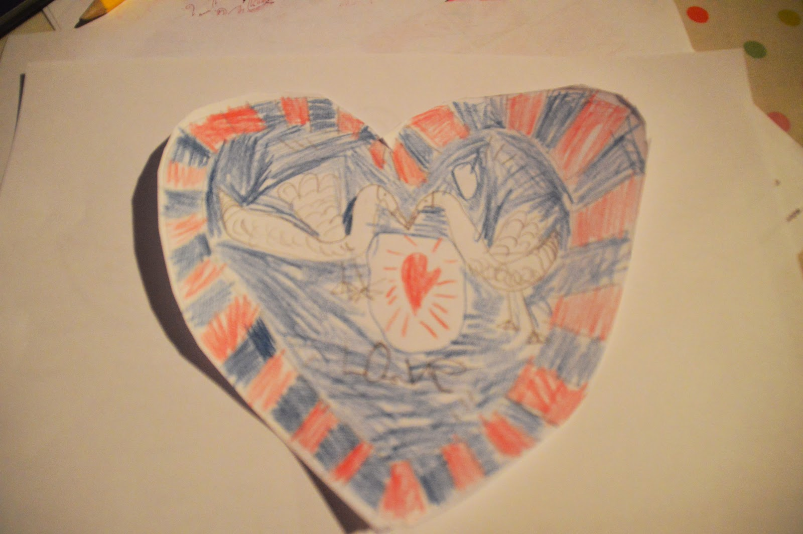, Love Heart Swans for Valentine's Day #craft