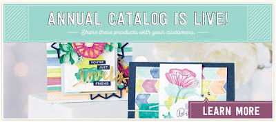 Learn all about the 2017-18 Stampin' Up! Annual Catalog in Kay's Stamping to Share Online Store!