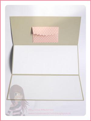 Stampin' Up! rosa Mädchen Kulmbach: Hochzeitskarte mit Monogramm in Kupfer, Grüße rund ums Jahr, Confetti, BigZ Druckbuchstaben und Umschlag mit Zierlasche