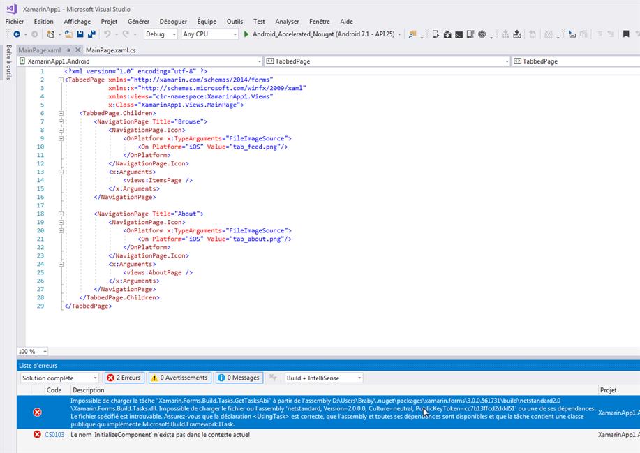 C#  NET: Développement d'applications avec Xamarin sous
