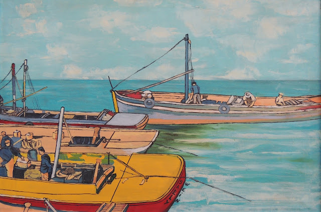 Sally Weintraub arte naíf surrealismo mar barcos
