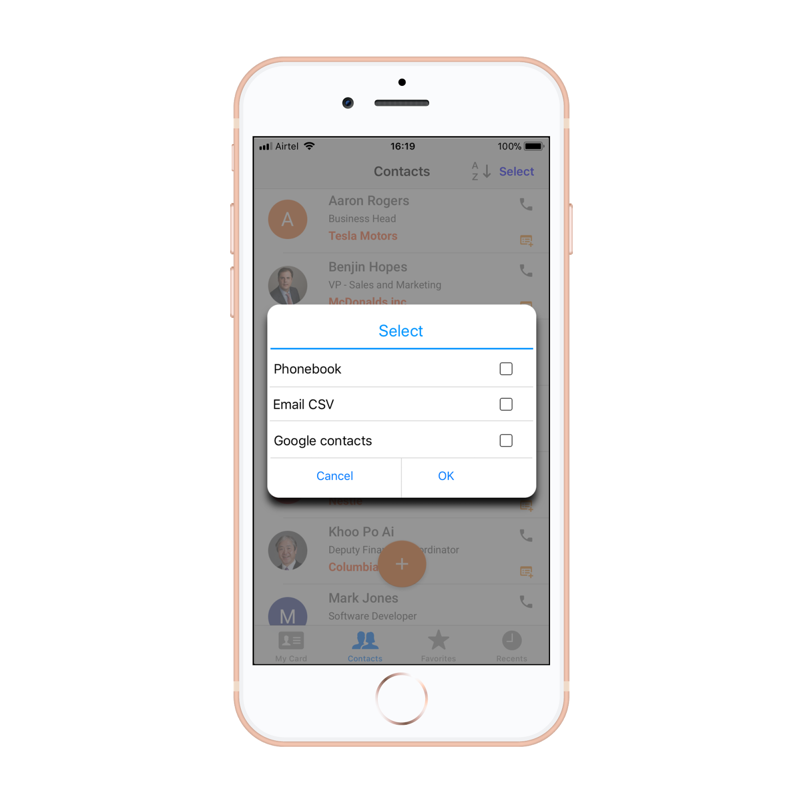 Bric the business card organizer feature helps sort all the contacts according to name company or recent scans and helps to sync data to the iphone address book colourmoves