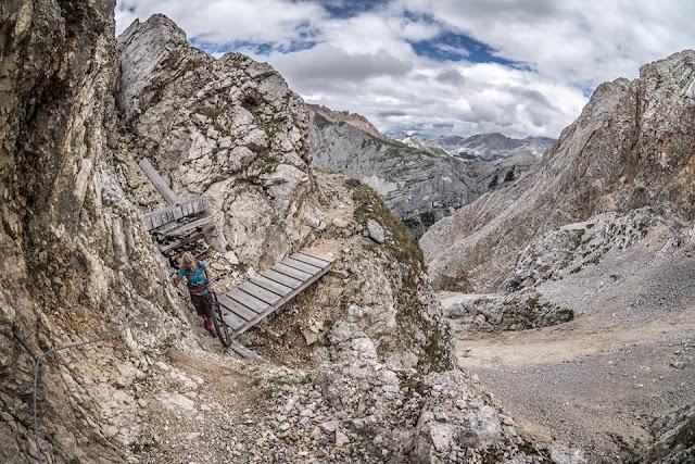 Tourenklassiker Dolomiten Mountainbike Monte Vallon Bianco MTB