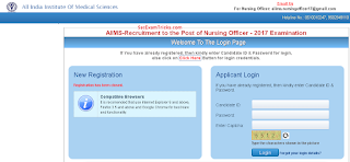 AIIMS Nursing Officer Admit Card 2017