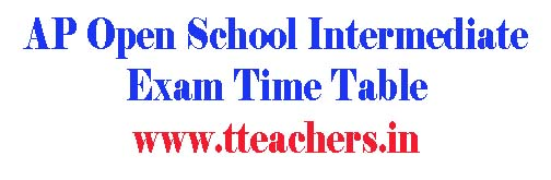 AP open inter time table 2018 aposs open school exam schedule
