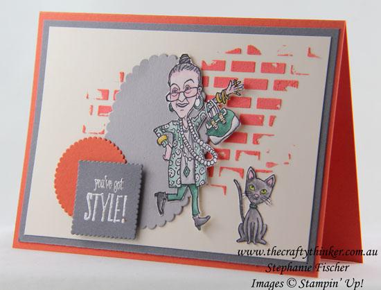 Pattern Party, You've Got Style, Embossing Paste, #thecraftythinker, Stephanie Fischer, Stampin' Up Australia Demonstrator, Sydney, NSW