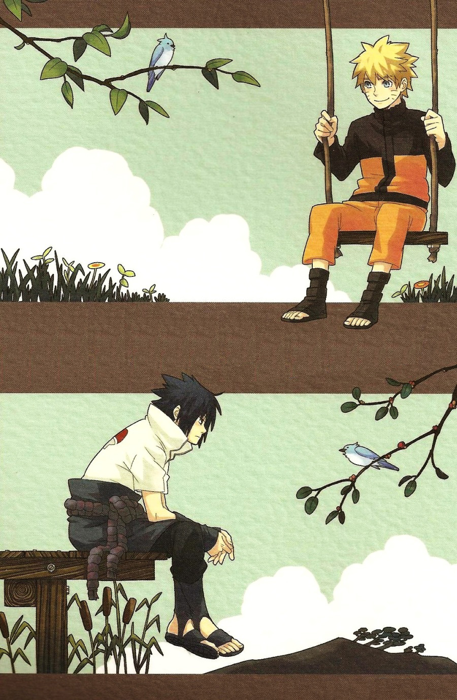 Hình ảnh  NaruSasu4ever %25252017%252520yearold%252520report cover in Naruto Doujinshi - White paper
